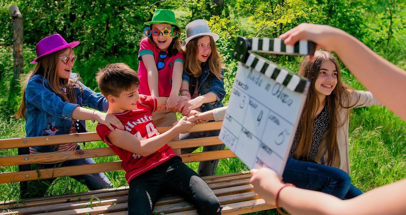 съемки ролика в кинолагере кино и театр kinder-camp.com.ua